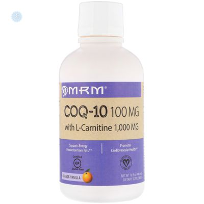 MRM, COQ-10 with L-Carnitine, Orange-Vanilla, 100 mg / 1,000 mg, 16 fl oz (480 ml)